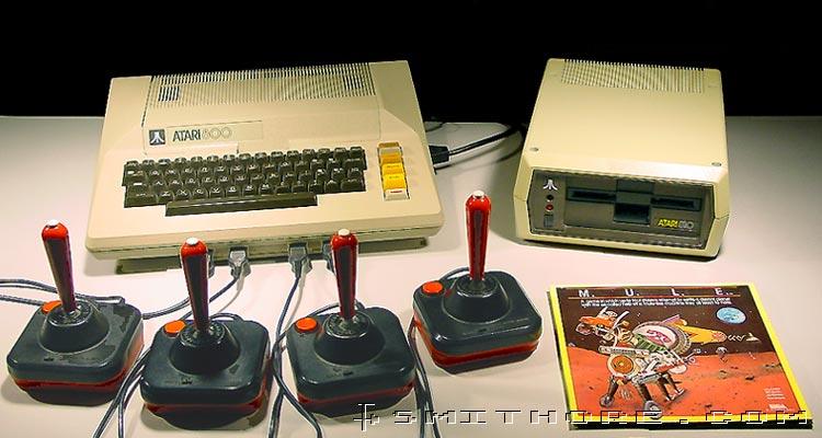 Atari 800 computer and Atari 810 floppy disk drive